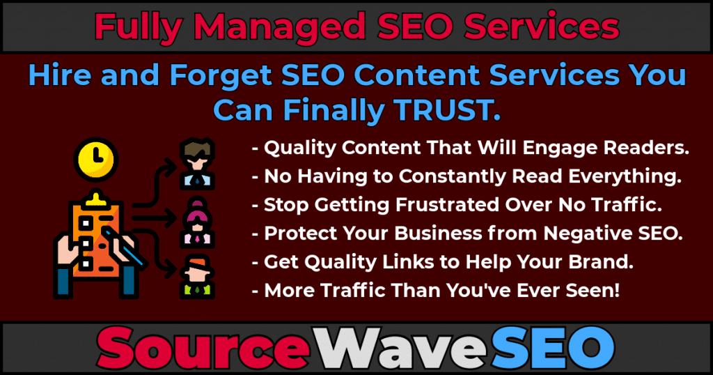 Fully Managed SEO Services by Source Wave SEO.
